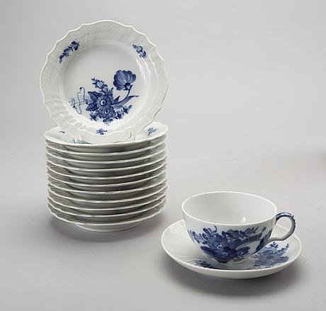 Servis ca 45 dlr blå blomst royal copenhagen danmark porslin.