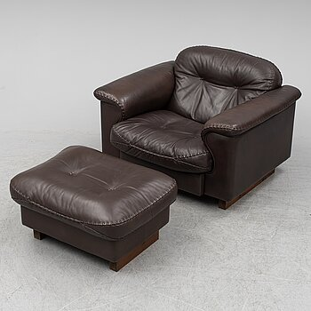 """An easy chair and ottoman by """"DS 101""""/""""Stringa"""", de Sede/Zani."""