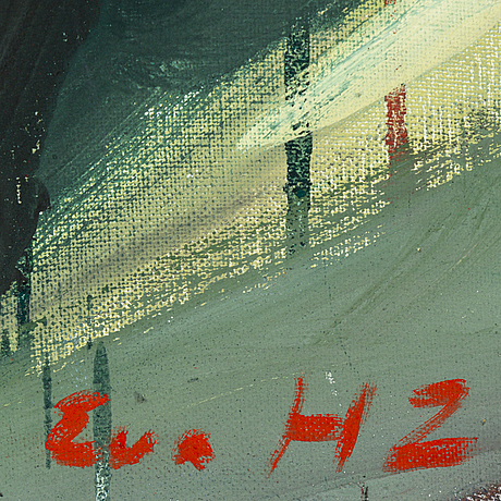 Eva zettervall, oil on canvas, signed eva hz.