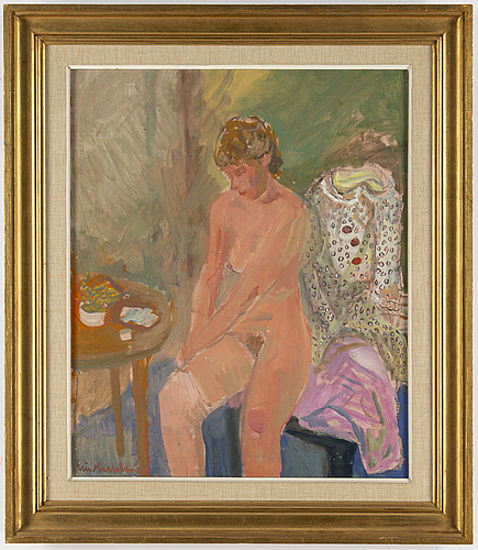 Eric hallstrÖm, oil on canvas, signed eric hallström.
