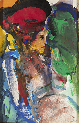 Jan naliwajko, gouache, signed and dated 1998.