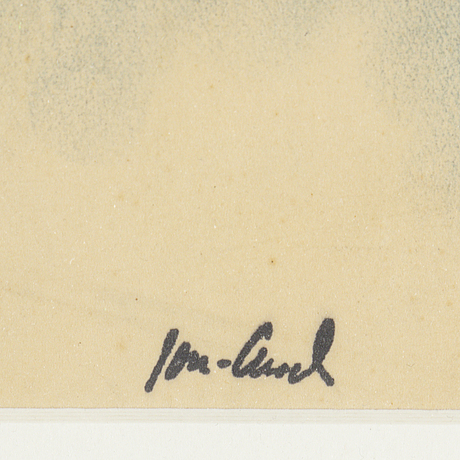 John jon-and,chalh-watercolour, stamped signature.