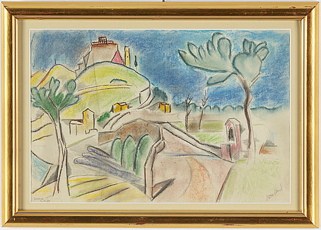 John jon-and, chalk drawing, signed and dated 3/3-22.