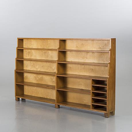 An oak book shelf.