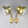 Anders pehrson, a pair of 'bumling' wall lights.