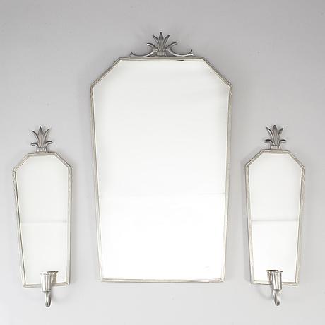 Spegel och spegellampetter, art deco, 1930-tal.