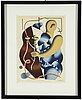 Fernand lÉger, after, colour lithographe, signed and dated in print, from derrière le miroir no 79-80-81 1955.