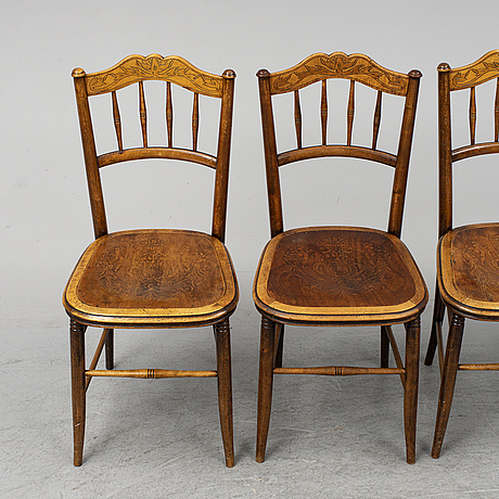 A set of four chairs, early 20th century.