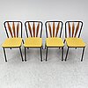 A set of four swedish chairs, bjärnums slöjdfabrik ab, 1950s. signed with label.