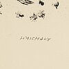 Henri michaux, lithograph, signed 44/60.