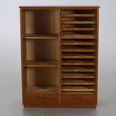 A filing cabinet, mid 20th century.