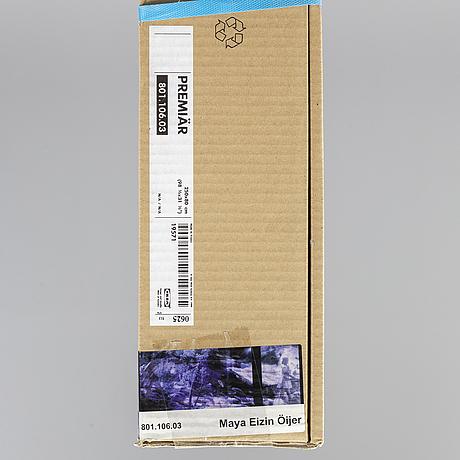 "Maya eizin Öijer, ""premiär"", screen print on canvas, from ikea art event-series, september 2006. not opened packaging."
