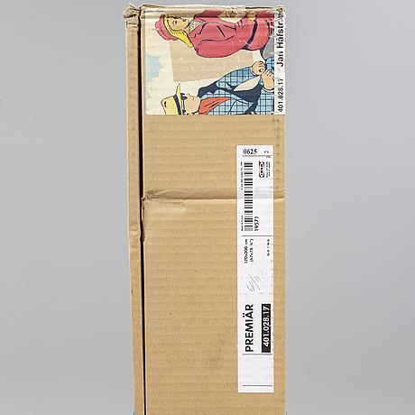 """Jan hÅfstrÖm, """"premiär"""", screen print on canvas, from ikea art event-series, september 2006. not opened packaging."""