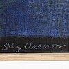 Stig claesson (slas), oil on canvas, signed.