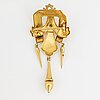 Brosch 18k guld i anpassat etui, med pärla.