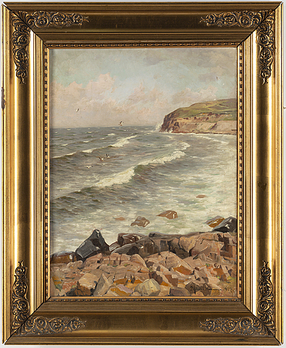 Peder mork mÖnsted, oil on canvas, signed and dated 1917.
