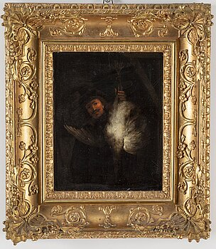 REMBRANDT HARMENSZ VAN RIJN, copy after. 19th century. Unsigned. Oil on panel.