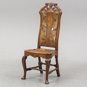 A late Baroque Dutch/English chair, 18th ct.