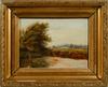 John clayton adams, troligen, olja på pannå. bär sign. omkring 1900.