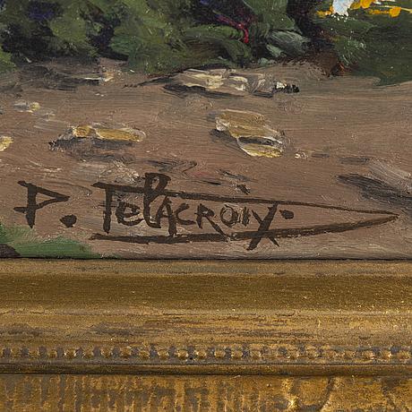 Pauline delacroix-garnier, olja på duk, signerad.