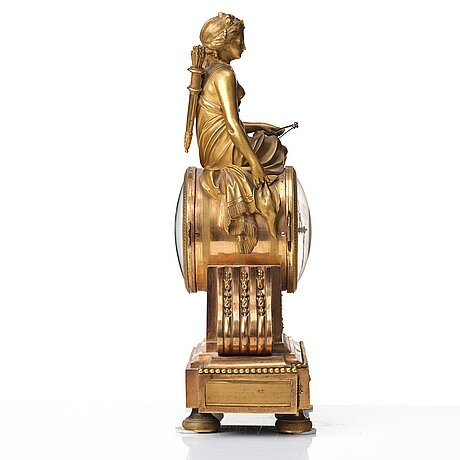 A french empire early 18th century mantel clock by l j laguesse.