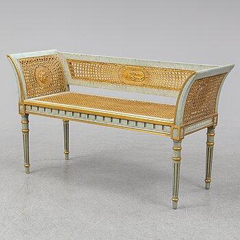 A 20th century Louis XVI-style bench.