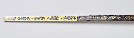 An ell measure stick, sweden, late 19 th ct.