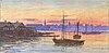 Hjalmar falk, akvarell, signerad och daterad 1916.