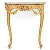 A swedish rococo console table, dated with stockholm hallmark 1763.
