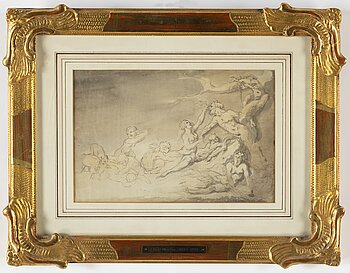 ELIAS MARTIN, attributed to,  ink wash.