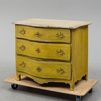 A Rococo chaest of drawers, second half of the 18th century.