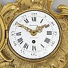 A french fleury à paris à paris part rococo gilt bronze cartel clock.