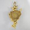 VÄggpendyl, cartelur, förgylld brons, delvis rokoko fleury à paris.