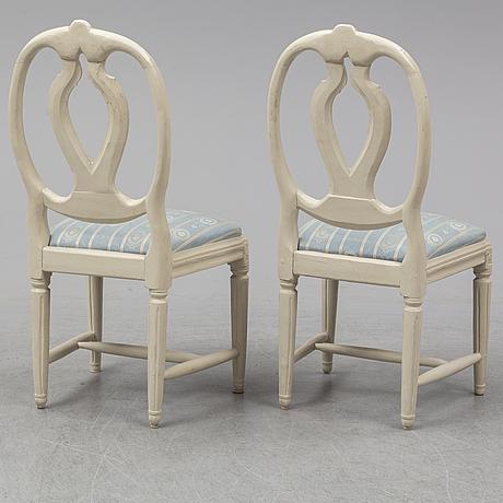 Stolar, ett par, gustavianska, 1700-talets slut.
