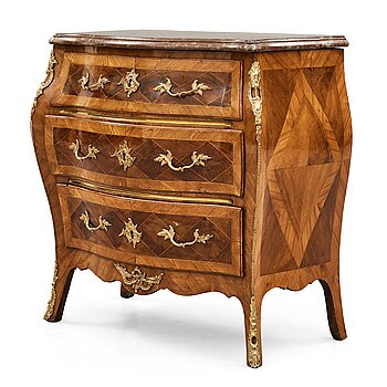 1. A Swedish Rococo 18th century commode by M Engström.