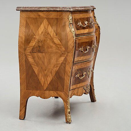A swedish rococo 18th century commode by m engström.