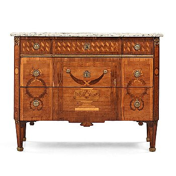 8. A Gustvian late 18th century commode attributed to Anders Lundelius.