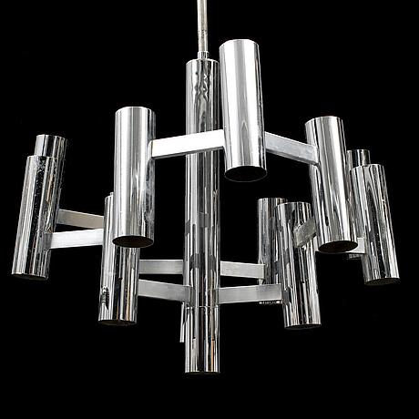 Gaetano sciolari, a chrome ceiling light, probably boulanger sa.