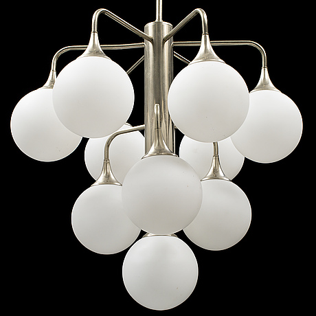 A chromed ceiling light, second half of the 20th century.