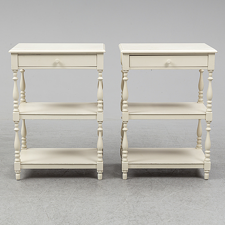 A pair of bedside late 20th century bedside tables.