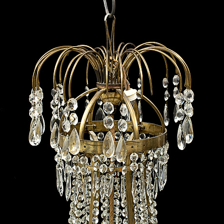 A late gustavian style chandelier, early 20th century.