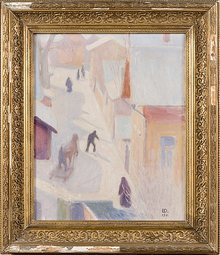 Emil edvard danielsson, oil, signed and dated 1911.