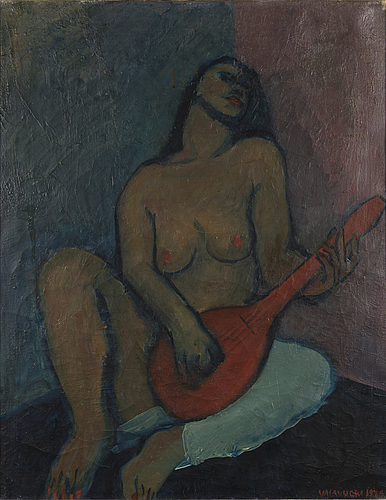 Olavi valavuori, oil on canvas, signed and dated 1945.