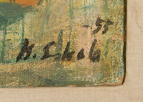 Kalle eskola, oil on canvas, signed and dated-55.