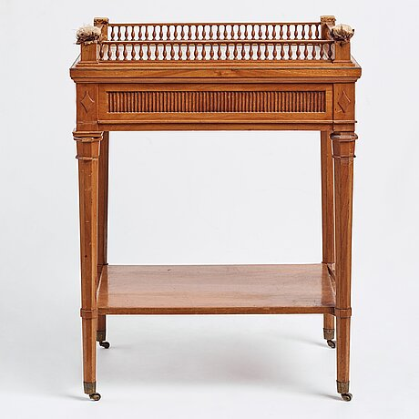 A late gustavian table, attributed to gottlieb iwersson, royal cabinetmaker, master in stockholm 1778-1813, circa 1800.