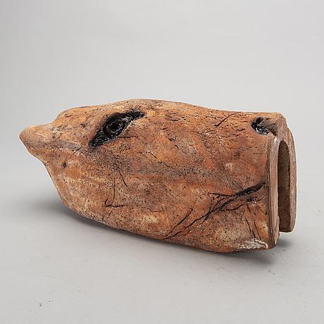 Henrik allert, sculpture, earthenware, signed.