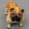 A 20th century terracotta figure of a bulldog.