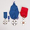 Three silver medals with enamel by a. tillander.
