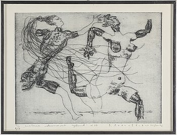 VLADIMIR YANKILEVSKY, two etchings, signed, numbered 5/10 and dated 3/V-72 and 8/10 and 2o/IV-72.