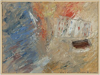 VLADIMIR NEMUKHIN, oil on paper panel, signed V. Nemukhin.